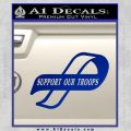 Support Our Troops Decal Sticker Intricate Blue Vinyl Black 120x120