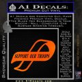 Support Our Troops Decal Sticker Intricate Orange Emblem Black 120x120