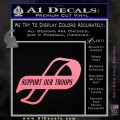 Support Our Troops Decal Sticker Intricate Soft Pink Emblem Black 120x120