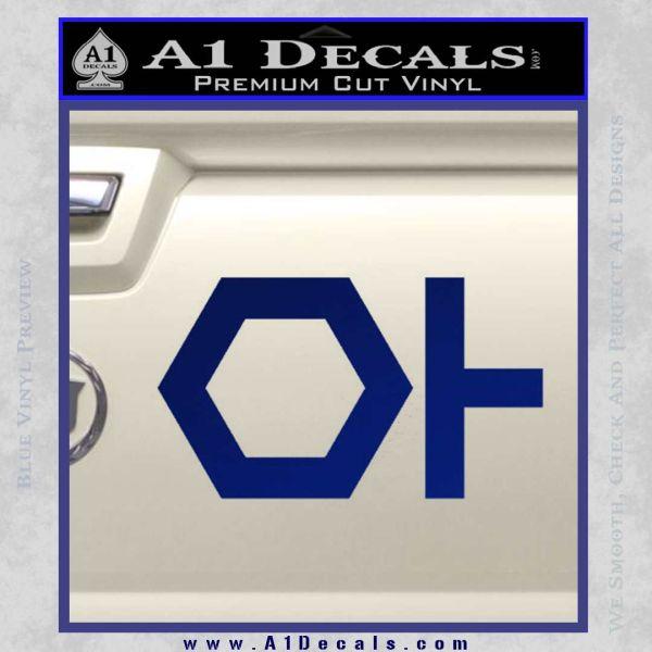 TRON ISO Symbol Decal Sticker Blue Vinyl