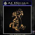 Tigger D1 Decal Sticker Winnie The Pooh Gold Metallic Vinyl Black 120x120