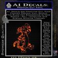 Tigger D1 Decal Sticker Winnie The Pooh Orange Emblem Black 120x120