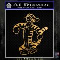 Tigger D2 Decal Sticker Winnie The Pooh Gold Metallic Vinyl Black 120x120