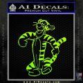 Tigger D2 Decal Sticker Winnie The Pooh Neon Green Vinyl Black 120x120