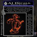 Tigger D2 Decal Sticker Winnie The Pooh Orange Emblem Black 120x120