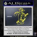 Tigger D2 Decal Sticker Winnie The Pooh Yellow Vinyl Black 120x120