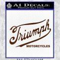 Triumph Motorcycles 1907 Decal Sticker BROWN Vinyl 120x120