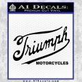 Triumph Motorcycles 1907 Decal Sticker Black Vinyl 120x120
