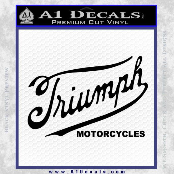 Triumph Motorcycles 1907 Decal Sticker 187 A1 Decals
