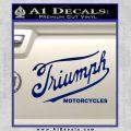 Triumph Motorcycles 1907 Decal Sticker Blue Vinyl 120x120