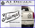Triumph Motorcycles 1907 Decal Sticker Carbon FIber Black Vinyl 120x97