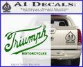 Triumph Motorcycles 1907 Decal Sticker Green Vinyl Logo 120x97