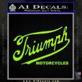 Triumph Motorcycles 1907 Decal Sticker Lime Green Vinyl 120x120