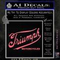 Triumph Motorcycles 1907 Decal Sticker Pink Emblem 120x120