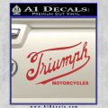 Triumph Motorcycles 1907 Decal Sticker Red 120x120