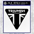 Triumph Motorcycles TRI Decal Sticker Black Vinyl 120x120