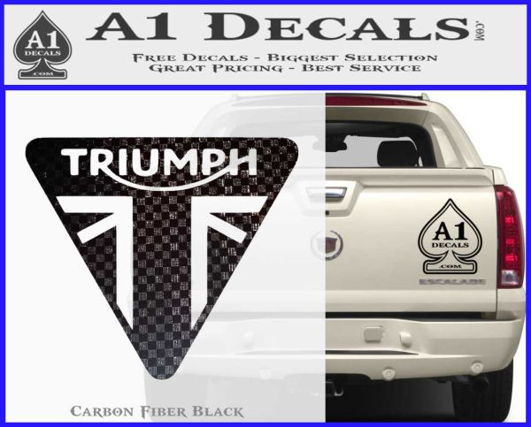 Triumph Motorcycles TRI Decal Sticker A Decals - Black vinyl decal stickers
