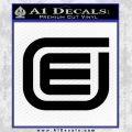 Tron Encom Decal Sticker Black Vinyl 120x120