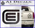 Tron Encom Decal Sticker Carbon FIber Black Vinyl 120x97