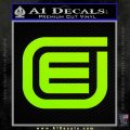 Tron Encom Decal Sticker Lime Green Vinyl 120x120
