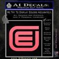 Tron Encom Decal Sticker Pink Emblem 120x120