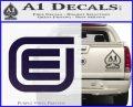 Tron Encom Decal Sticker PurpleEmblem Logo 120x97