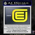 Tron Encom Decal Sticker Yellow Laptop 120x120