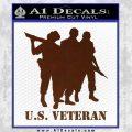 US Veterans Decal Sticker Army Navy Marine Air Force BROWN Vinyl 120x120