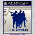 US Veterans Decal Sticker Army Navy Marine Air Force Blue Vinyl 120x120