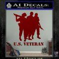 US Veterans Decal Sticker Army Navy Marine Air Force DRD Vinyl 120x120