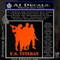 US Veterans Decal Sticker Army Navy Marine Air Force Orange Emblem 120x120