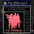 US Veterans Decal Sticker Army Navy Marine Air Force Pink Emblem 120x120