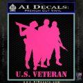 US Veterans Decal Sticker Army Navy Marine Air Force Pink Hot Vinyl 120x120