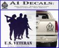 US Veterans Decal Sticker Army Navy Marine Air Force PurpleEmblem Logo 120x97