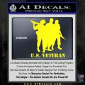 US Veterans Decal Sticker Army Navy Marine Air Force Yellow Laptop 120x120