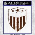 USA Shield Decal Sticker BROWN Vinyl 120x120