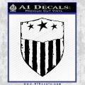 USA Shield Decal Sticker Black Vinyl 120x120