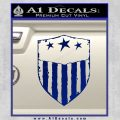 USA Shield Decal Sticker Blue Vinyl 120x120