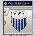 USA Shield Decal Sticker Blue Vinyl 120x120