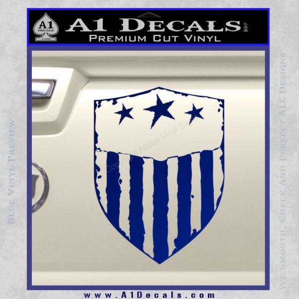 USA Shield Decal Sticker Blue Vinyl