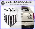 USA Shield Decal Sticker Carbon FIber Black Vinyl 120x97
