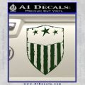 USA Shield Decal Sticker Dark Green Vinyl 120x120
