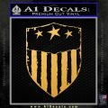 USA Shield Decal Sticker Gold Vinyl 120x120