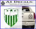 USA Shield Decal Sticker Green Vinyl Logo 120x97