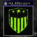 USA Shield Decal Sticker Lime Green Vinyl 120x120
