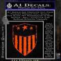 USA Shield Decal Sticker Orange Emblem 120x120
