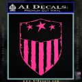 USA Shield Decal Sticker Pink Hot Vinyl 120x120