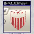 USA Shield Decal Sticker Red 120x120