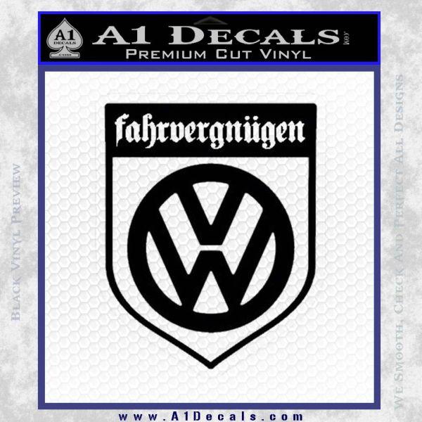 Vw Fahrvergnugen Emblem D1 Decal Sticker A1 Decals