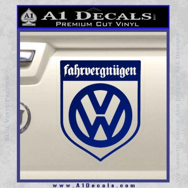 Vw Fahrvergnugen Emblem D1 Decal Sticker A1 Decals Get up to 50% off. vw fahrvergnugen emblem d1 decal